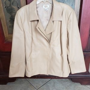 Talbots lamb leather plus size jacket